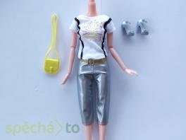 NOVÉ! Set pro panenku Barbie, tričko+kalh.+boty+kabelka , Pro děti, Hračky  | spěcháto.cz - bazar, inzerce zdarma