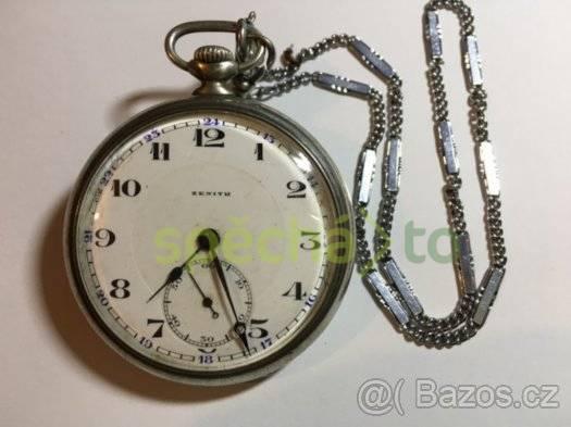 Prodám luxusní starožitné stříbrné kapesní hodinky ZENITH  eeb8753530