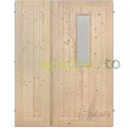 Palubkové dveře dvoukřídlé 125 cm sklo  , foto 1 Dům a zahrada, Stavba a rekonstrukce | spěcháto.cz - bazar, inzerce zdarma