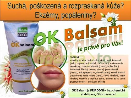 OK Balsam pro suchou, popraskanou, poškozenou kůži - vhodná i pro atopickou kůži - regenerace, obnovení kůže, foto 1 Móda a zdraví, Doplňky stravy | spěcháto.cz - bazar, inzerce zdarma