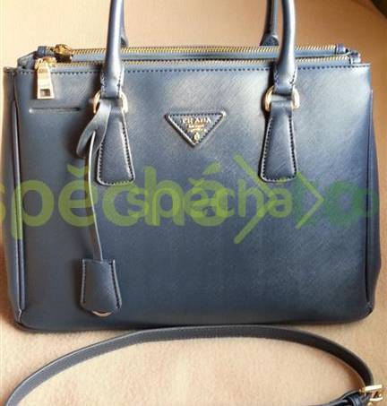 kabelka Prada Saffiano Lux Tote Blue  53fbc818082