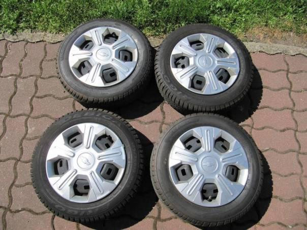 Chevrolet Spark 4x zimní kola + poklice, foto 1 Náhradní díly a příslušenství, Osobní vozy | spěcháto.cz - bazar, inzerce zdarma