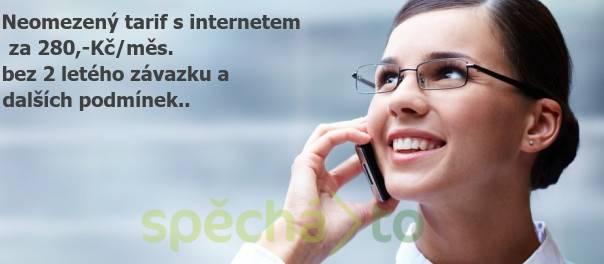 AKCE na neomezený telefonní tarif s internetem za 280,-Kč/měs, foto 1 Telefony a GPS, Mobilní telefony | spěcháto.cz - bazar, inzerce zdarma