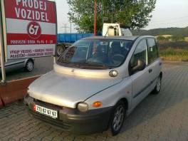 Fiat Multipla JTD vyhořelé