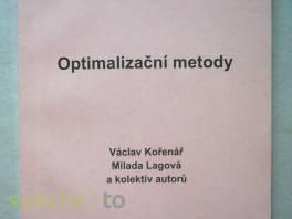 Optimalizační metody , Hobby, volný čas, Knihy  | spěcháto.cz - bazar, inzerce zdarma
