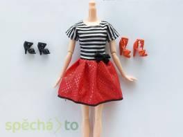 NOVÉ! Set pro panenku Barbie, eleg. šaty + 2x boty , Pro děti, Hračky  | spěcháto.cz - bazar, inzerce zdarma
