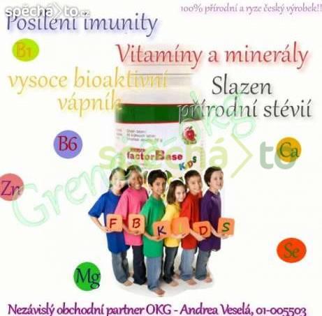 Factor Base KIDS - multivitamín přírodní pro děti, foto 1 Pro děti, Zdraví a hygiena | spěcháto.cz - bazar, inzerce zdarma
