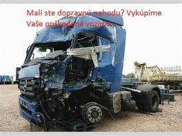 Neustále vykupujeme havarované nákladné vozidlá