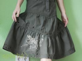 Nová volánová sukně z pevné bavlny - džínoviny vel.L , Dámské oděvy, Sukně, šaty  | spěcháto.cz - bazar, inzerce zdarma