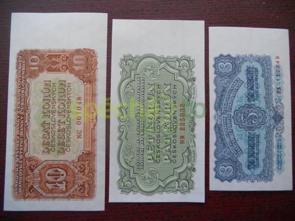 Sestava tří bankovek Československa z roku 1953 - UNC, foto 1 Hobby, volný čas, Sběratelství a starožitnosti | spěcháto.cz - bazar, inzerce zdarma