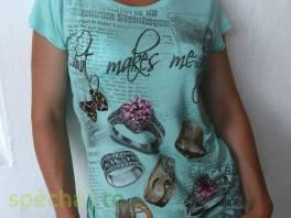 Nové tričko s 3D potiskem vel.S , Dámské oděvy, Halenky, trička, tílka  | spěcháto.cz - bazar, inzerce zdarma