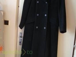 Dámský černý flaušový kabát vel.38/40 , Dámské oděvy, Bundy, kabáty  | spěcháto.cz - bazar, inzerce zdarma