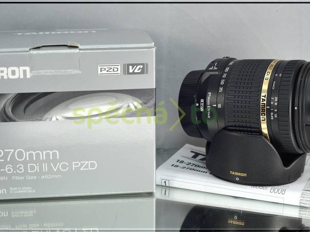 pro Nikon - TAMRON 18-270mm 1:3.5-6.3 VC DiII PZD+UV FILTR*, foto 1 Fotoaparáty a kamery, Fotoaparáty, zrcadlovky | spěcháto.cz - bazar, inzerce zdarma