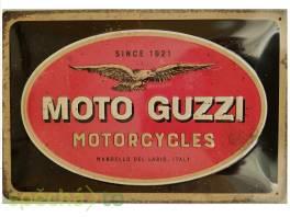 Originální plechová cedule: Moto Guzzi - 30x20 cm , Bydlení a vybavení, Doplňky  | spěcháto.cz - bazar, inzerce zdarma