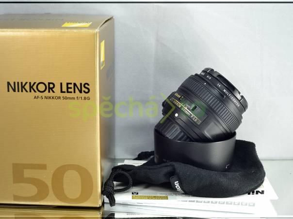 Nikon AF-S Nikkor 50mm f/1.8 G *1:1.8* + UV FILTR, foto 1 Fotoaparáty a kamery, Fotoaparáty, zrcadlovky | spěcháto.cz - bazar, inzerce zdarma