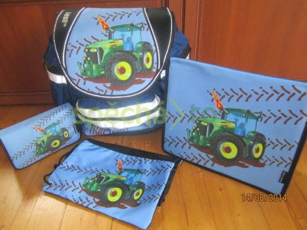 97b4e33e4df Aktovka traktor+pouzdro+pytlík+složky - TOP stav