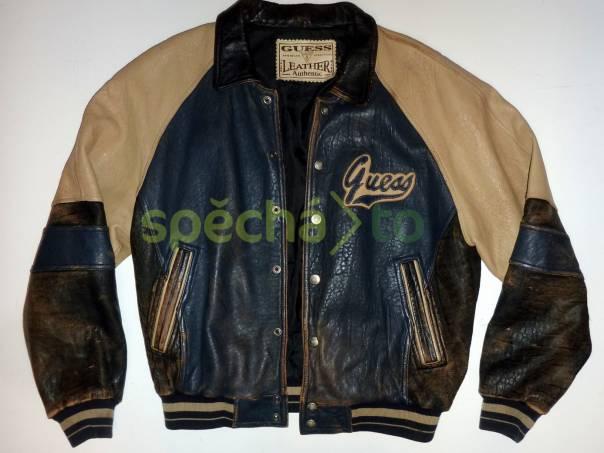 81218f52732 Retro kožená bunda Guess An American Tradition L