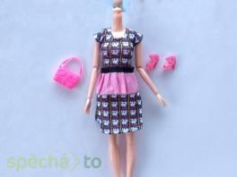 NOVÉ! Set pro panenku Barbie, šaty+boty +kabelka , Pro děti, Hračky  | spěcháto.cz - bazar, inzerce zdarma
