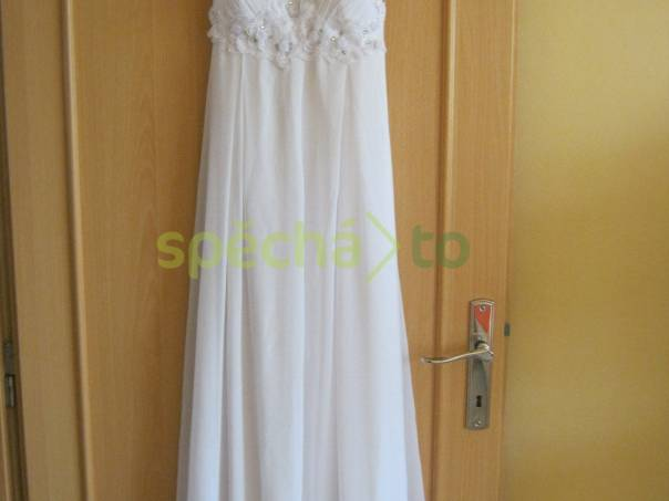 d9017eaf624 Svatební   společenské bílé šaty vel. M