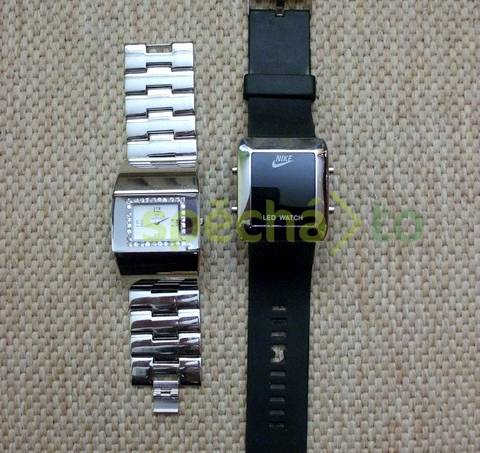aaa4fa31aa5 Silikonové hodinky Nike a stříbrné Giovani