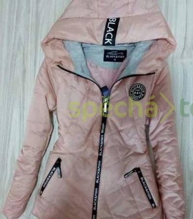Luxusní krásná jarní růžová bunda i světle a tmavě modrá ... 4b5dcc10a32