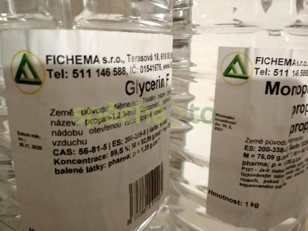 Suroviny pro přípravu bází do E-cigaret - monopropylenglykol (0,9 kg) a glycerol (2,5 kg), foto 1 Elektronika, Elektronické cigarety | spěcháto.cz - bazar, inzerce zdarma