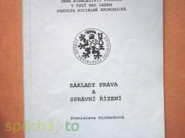 Základy práva a správní řízení , Hobby, volný čas, Knihy  | spěcháto.cz - bazar, inzerce zdarma