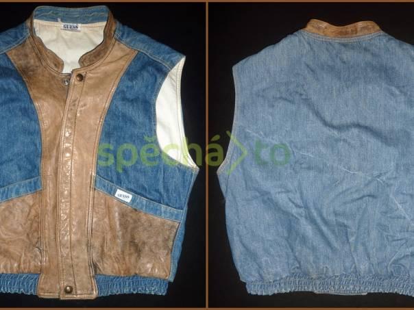 5c2f51ad870 Pánská vesta Guess kožená   jeans