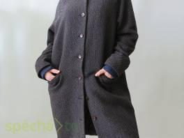 Prskaný šedý kabát Selected s