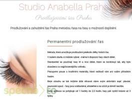 Prodlužování řas studio Anabella Praha , Wellness a péče o zdraví, Kosmetika  | spěcháto.cz - bazar, inzerce zdarma