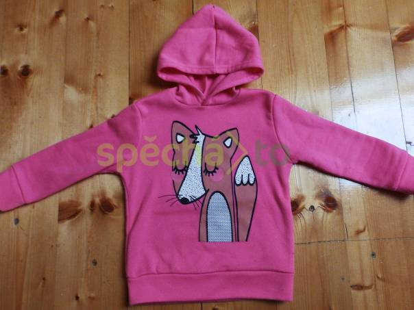 Krásná růžová mikinka s liškou, foto 1 Pro děti, Dětské oblečení  | spěcháto.cz - bazar, inzerce zdarma