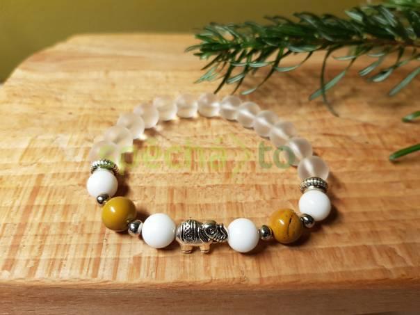 Náramek z minerálů - Slon pro štěstí, foto 1 Modní doplňky, Šperky a bižuterie | spěcháto.cz - bazar, inzerce zdarma