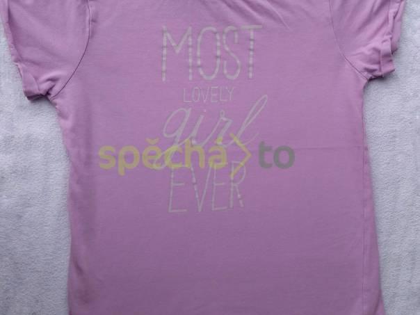 Krásné tričko s nápisy, vel. 128, foto 1 Pro děti, Dětské oblečení  | spěcháto.cz - bazar, inzerce zdarma