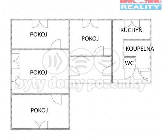 Prodej bytu 4+1, Uničov, foto 1 Reality, Byty na prodej | spěcháto.cz - bazar, inzerce