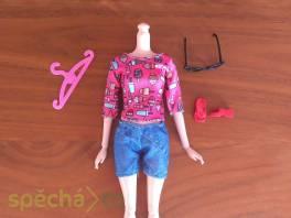 NOVÉ! Set pro panenku Barbie,tričko+kraťasy+boty+brýle+ramínko , Pro děti, Hračky    spěcháto.cz - bazar, inzerce zdarma