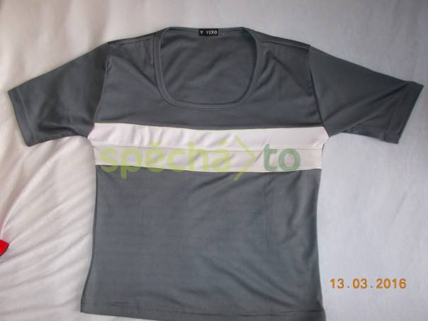 šedé tričko , foto 1 Dámské oděvy, Halenky, trička, tílka | spěcháto.cz - bazar, inzerce zdarma