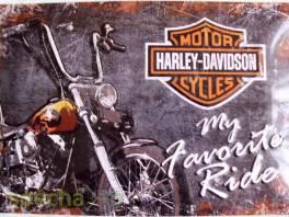 Plechová cedule-Harley-Davidson (My Favorite Ride) 20x30cm , Bydlení a vybavení, Doplňky  | spěcháto.cz - bazar, inzerce zdarma
