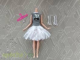 NOVÉ! Set pro panenku Barbie, halenka + sukně + boty + náramek + ramínko , Pro děti, Hračky  | spěcháto.cz - bazar, inzerce zdarma