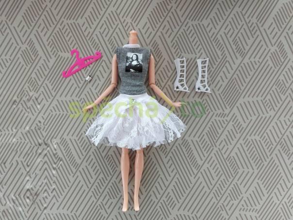 NOVÉ! Set pro panenku Barbie, halenka + sukně + boty + náramek + ramínko, foto 1 Pro děti, Hračky | spěcháto.cz - bazar, inzerce zdarma