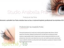 Studio Anabella Praha - Prodlužování řas 3D volume , Wellness a péče o zdraví, Kosmetika  | spěcháto.cz - bazar, inzerce zdarma