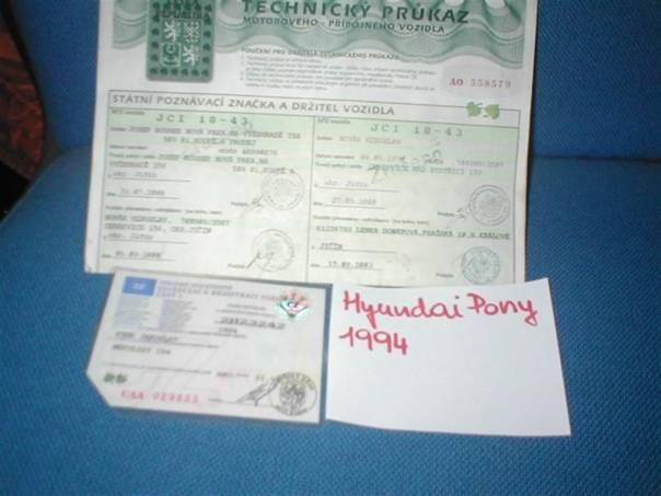 Hyundai Pony 1.5 GLSi, foto 1 Náhradní díly a příslušenství, Ostatní | spěcháto.cz - bazar, inzerce zdarma