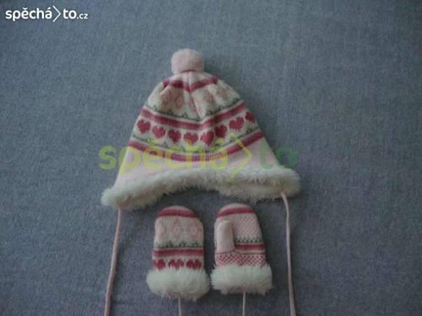 čepice s rukavicemi, foto 1 Pro děti, Dětské oblečení  | spěcháto.cz - bazar, inzerce zdarma