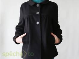 Černý flaušový kabátek Zara vel. 40 , Dámské oděvy, Bundy, kabáty    spěcháto.cz - bazar, inzerce zdarma
