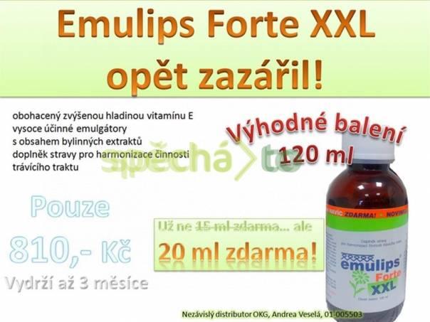 Emulips Forte XXL - cenová BOMBA - 20 ml ZDARMA, foto 1 Móda a zdraví, Kosmetika | spěcháto.cz - bazar, inzerce zdarma