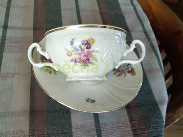 Starý, porcelánový hrnek s talířem na polévku, foto 1 Hobby, volný čas, Sběratelství a starožitnosti | spěcháto.cz - bazar, inzerce zdarma
