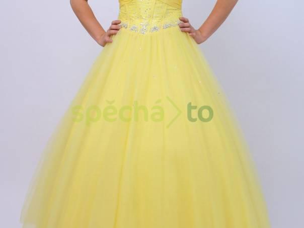 Plesové maturitní šaty žluté  6f47573c73