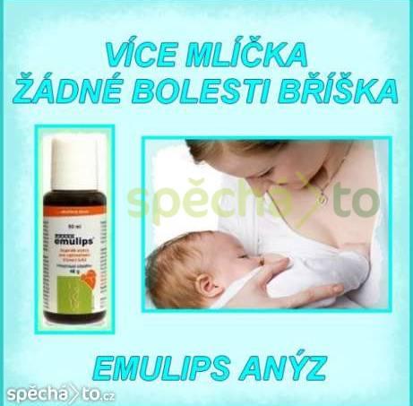 Více mlíčka, žádné bolesti bříška! Emulips anýz, foto 1 Pro děti, Zdraví a hygiena | spěcháto.cz - bazar, inzerce zdarma